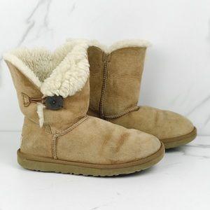 Ugg Fold Over Sheep Fur Booties Snow Winter 7